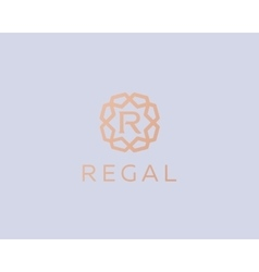 Premium letter r logo icon design luxury vector