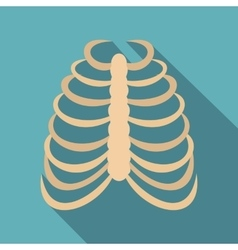 Rib cage icon flat style vector