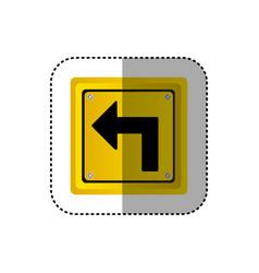 Sticker metallic realistic yellow square frame vector
