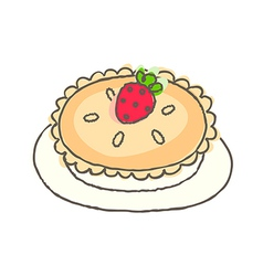 A pie is placed vector image