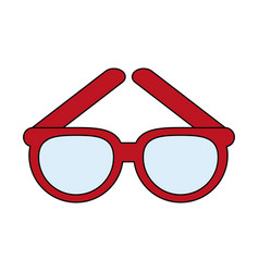 Glasses frame icon image vector