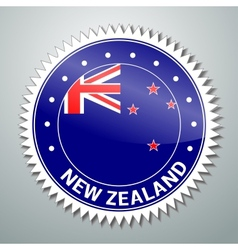 New zealand flag label vector