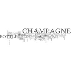 A look at champagne text word cloud concept vector