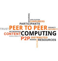 Word cloud - p2p computing vector