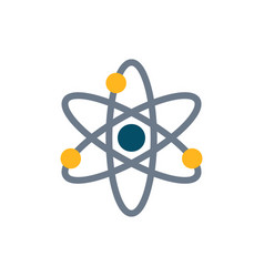 Atom icon on white background vector