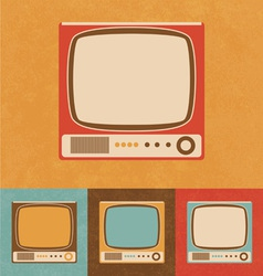 Retro icons - small television set vector