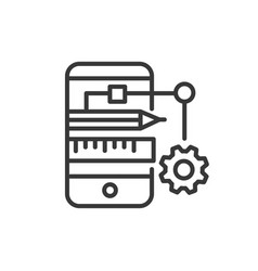 App developing - modern line design icon vector