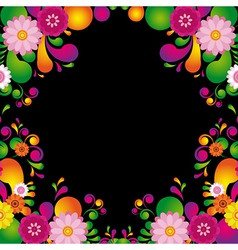 Flower frame for the poster of hawaiian night vector