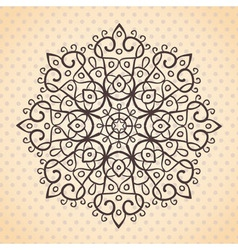 Ehtnic lace round element vector image