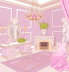 Princess dressing room vector