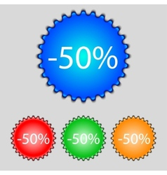 50 percent discount sign icon sale symbol special vector