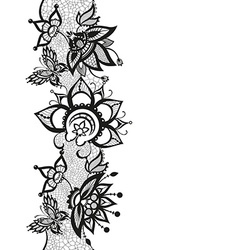 Abstract lace with elements of butterfly and vector