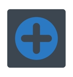 Create flat smooth blue colors rounded button vector