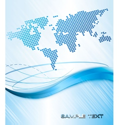 business abstract background with world map vector image