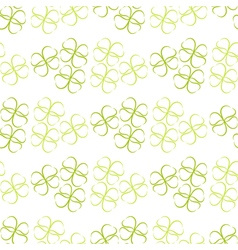 Pattern of flowers of green leaves or hearts vector image