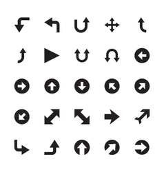 Mini arrows icons 5 vector