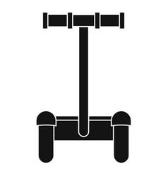 Alternative transport vehicle icon simple style vector