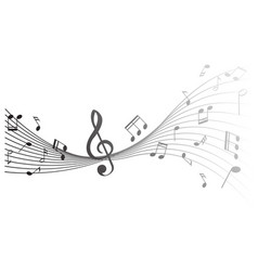 Background design with music notes vector