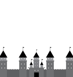 Black castle on white background vector