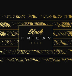 black friday sale gold banner luxury background vector image vector image