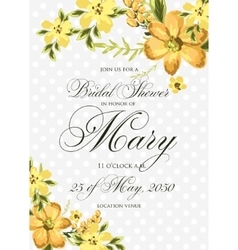 Bridal shower invitation with hibiskus flowers vector