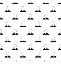 Buddhist monk pattern simple style vector