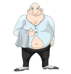 Cheerful Chubby Men vector image