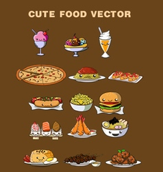 Cute food vector