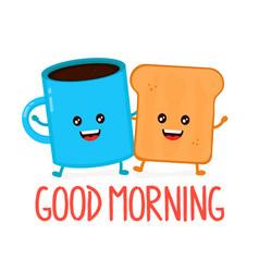 cute happy smiling cup of coffee vector image vector image