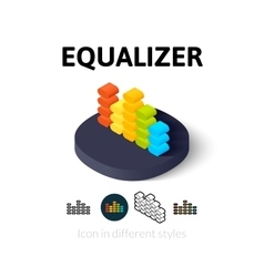 Equalizer icon in different style vector