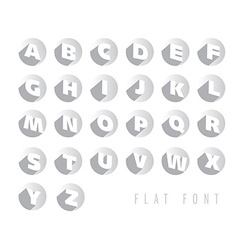 Flat letters of the alphabet vector image vector image