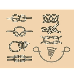 knots set vector image