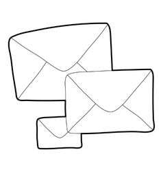 Letter icon outline style vector image vector image