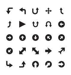 Mini arrows icons 5 vector