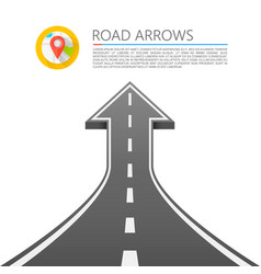 road with an arrow up vector image