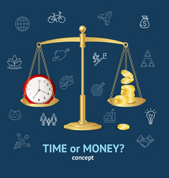 time or money concept vector image vector image
