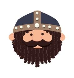Viking man cartoon vector