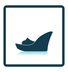 Platform shoe icon vector