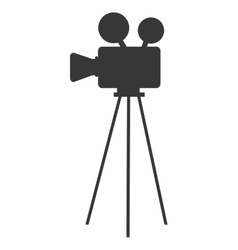 Camera film movie isolated icon vector