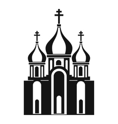 Church building icon in simple style vector