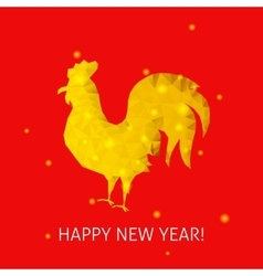 Red rooster happy new year vector