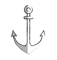 anchor maritime isolated icon vector image