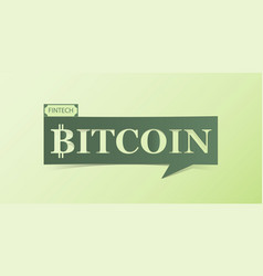 Bitcoin banner isolated on light green background vector