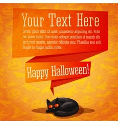 Happy halloween cute retro banner or greeting card vector