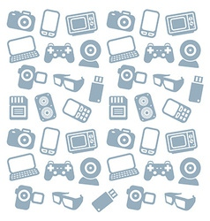 Seamless web icons pattern vector