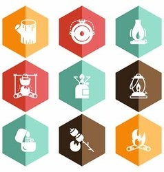 Solid fuels icons vector