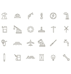 Industry black icons set vector