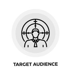 Target audience line icon vector