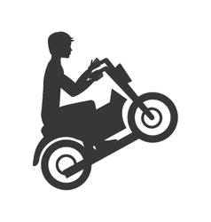 Motorcycle extreme isolated icon design vector