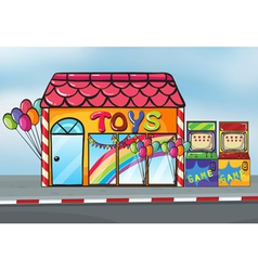 A toy shop vector image vector image